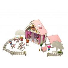 """Кукольный Домик для кукол ЛОЛ LOL + дворик с мебелью, текстилем и обоями """"LITTLE FUN"""" 40х20х40 см (2111)"""