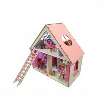 Кукольный домик для кукол ЛОЛ LOL LITTLE FUN c мебелью, текстилем, лестницей и шторками 40х20х40 см (2110)