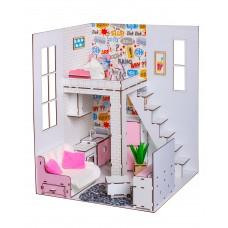 Кукольный домик для кукол Барби (Barbie) Пентхаус  2 этажа с мебелью и текстилем 40х40х50 см (7002)