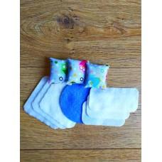 Набор текстиля для игрушечной мебели кукольного домика куколок ЛОЛ LOL: матрас, подушка, одеяло, коврик (1107)