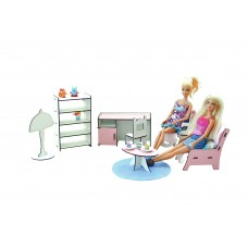 """Кукольная мебель ЭКО для кукол в кукольный домик - набор """"Кабинет"""" со столом и стульями, 7 предметов (3115)"""