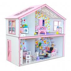 Кукольный домик для кукол Барби (Barbie) Волшебный Коттедж с мебелью, обои и текстиль 80х34х75 см (3125)