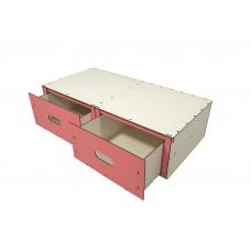 Детский органайзер-коробка для хранения игрушек с двумя выдвижными ящиками из эко-материалов 68х34х18см (6003)