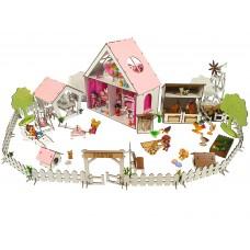 "Кукольный Домик для кукол ЛОЛ LOL+ ферма + дворик с мебелью и текстилем ""LITTLE FUN"" 40х20х40 см (2123)"