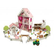 """Кукольный Домик для кукол ЛОЛ LOL + ферма + дворик с мебелью и текстилем """"LITTLE FUN maxi"""" 40х20х62 см (2125)"""