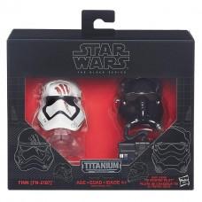 """Мини-шлемы пилот первого ордена и штурмовик Финн """"Звездные войны"""" - Star Wars, Black Series, Hasbro"""