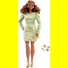 Коллекционная Кукла Барби шарнирная Высокая Мода в платье металлик Barbie The Look Metallic Mini