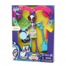 Кукла Винил Скретч девочки Эквестрии с аксессуарами для рисования - My Little Pony DJ Pon-3 Rainbow Rocks Hasbro