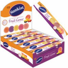 Sunkist Fruit Gems Jelly belly, 5 штук , 46 г
