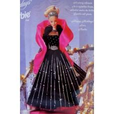 Коллекционная Кукла Барби Праздничная в дизайнерском платье, сатиновая накидка 1998 года - Barbie Happy Holidays