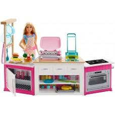 Игровой набор для девочек Барби Мега кухня с Куклой Барби, аксессуарами для лепки - Barbie Ultimate Kitchen