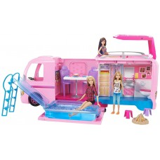 Игровой набор для девочек Кемпинг мечты Куклы Барби Трейлер для путешествий с мебелью 2017 - Barbie Dream Camper
