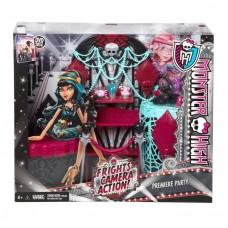 Кукольный игровой набор Монстер Хай Премьера Страх Камера Мотор! MH Frights,Camera,Action! Premiere Party Playset