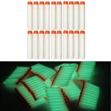 Игровой Набор из 20 светящихся стрел с мягкими наконечниками, для игрушечного оружия Нерф - Nerf N-Strike Elite