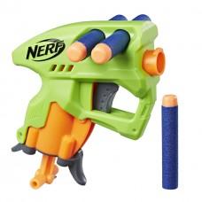Игровой Компактный Бластер Нерф Нано-оружие зеленый, с 3 стрелами  - Nanofire Green Nerf, N-Strike Elite, Hasbro