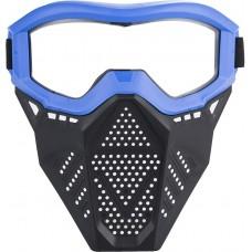 Игровая Защитная маска, для игры с бластерами Нерф - Nerf Rival, черный пластик с ярко-синим окрасом на ремешках