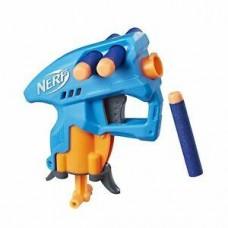 Игровой Компактный Бластер Нерф Нано-оружие голубой, с 3 стрелами  - Nanofire Blue Nerf, N-Strike Elite, Hasbro