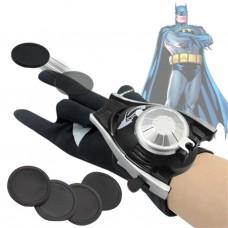 Игровая Перчатка-браслет Бэтмена с метателем пластиковых дисков (4 штуки) для детей от 5 лет - Batman glove