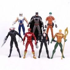 Коллекционный Набор фигурок Супергероев с аксессуарами 7в1 по мотивам комиксов, 18 см - Superheroes DC Comics
