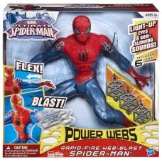 Большая интерактивная игрушка Человек-Паук 35 см - Ultimate Spider-Man, Power Webs, Web-Blast, Hasbro