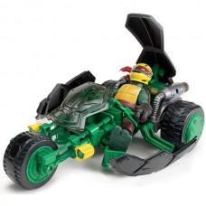 Боевой транспорт ниндзя Рафаель и мотоцикл - Stealth bike with Raphael, TMNT 2012, Playmates