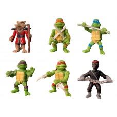 Набор фигурок Черепашки Ниндзя, 6 персонажей, статичные, высота 5 см - Teenage Mutant Ninja Turtles TMNT