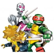 Конструктор Рафаэль и Крэнг Сражение в Измерении Х 81 деталь - Raphael, Dimension X Battle, TMNT, Mega Bloks