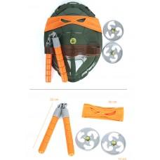 Игровой набор оружия Микеланджело Черепашки Ниндзя: оранжевая маска, боевой панцирь, 2 сюрикена, нунчаки TMNT