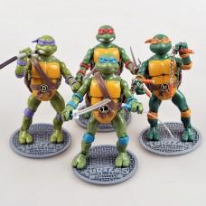 Набор фигурок Черепашки Ниндзя Леонардо Рафаэль Микеланджело Донателло, высота 15 см - Ninja Turtles, TMNT