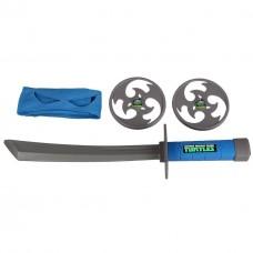 Боевой набор Леонардо (маска, меч, сюрикены) - Leonardo, TMNT, Playmates Toys