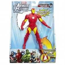 Игровая Фигурка Железный Человек совершает удар, 15 см - Iron Man, Avengers, Assemble, Squeeze Legs, Hasbro
