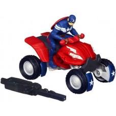 Игровой набор 2в1 Капитан Америка на квадроцикле с пусковым механизмом 15 см - Captain America Blast-n-Go Hasbro
