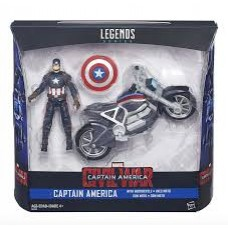 Игрушка Капитан Америка + мотоцикл - Captain America and Motorcycle, Legends, Avengers