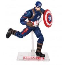Коллекционная игровая Фигурка Капитан Америка с держателем, Мстители, 18 см - Captain America, Avengers, Marvel