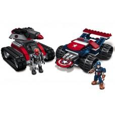 Конструктор Капитан Америка против Красного Черепа 156 деталей - Captain America vs Red Skull, Mega Bloks