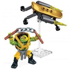 "Конструктор Микеланджело ""Супер трюки"", 34 дет. - Michelangelo, Turbo Board, TMNT, Mega Bloks Мега Блокс"