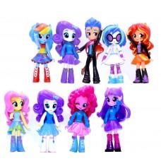 Игровой набор из 9 Кукол Девочки из Эквестрии Моя Маленькая Пони, 13 см - My Little Pony, Equestria Girls minies