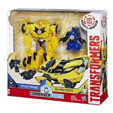 Трансформер Бамблби и миникон Стантвинг Роботы под прикрытием - Bumblebee & Stuntwing, Combiner Force, Hasbro