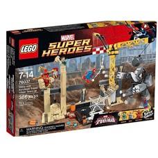 LEGO Super Heroes 76037 Rhino and Sandman Super Villain Team-up Носорог и Песочный человек против Супергероев