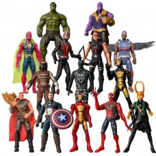 Набор Игровых Фигурок 14 в 1 полный состав Мстителей, 17 см, с аксессуарами - Marvel, Avengers, Action Figures