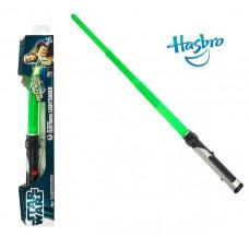Электронный раскладной световой меч Квай-Гон Джинна(звук, свет) - Qui-Gon Jinn, Star Wars, Hasbro