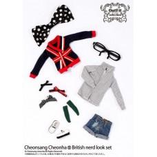 Комплект Одежды в стиле Британской отличницы для кукол Пуллип высотой 31 см - Pullip Doll Outfits British Nerd