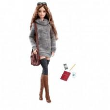 Коллекционная Кукла Барби в свитере Высокая Мода Городские джунгли - Barbie The Look Sweater Dress Doll