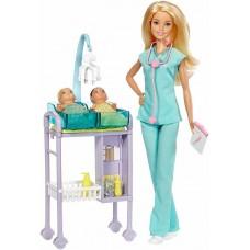 Набор игровой Кукла Барби Карьера Детский Доктор Педиатр - Barbie Careers Baby Doctor Playset
