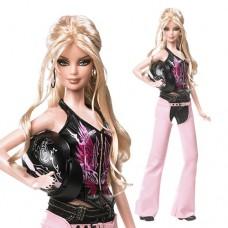 Коллекционная Кукла Барби Блондинка Харлей Девидсон 2008 года Pink Label