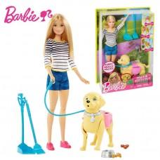 Кукольный набор с собакой Кукла Барби прогулка со щенком - Barbie Walk and Potty Pup Playset