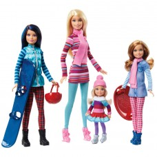 Игровой набор для девочек Кукла Барби с сёстрами на зимнем отдыхе - Barbie Sisters Winter Getaway Fashion Dolls