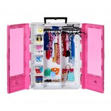 Игровой набор Шкаф для одежды для куклы Барби Мода розовый 8х32х26 см - Barbie Ultimate Closet Fashionistas