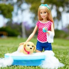 Кукольный набор Кукла Барби купание щенка - Barbie Splish Splash Pup Playset