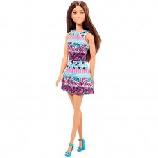 Кукла Барби Брюнетка в платье с цветочным принтом Barbie Doll 29 см